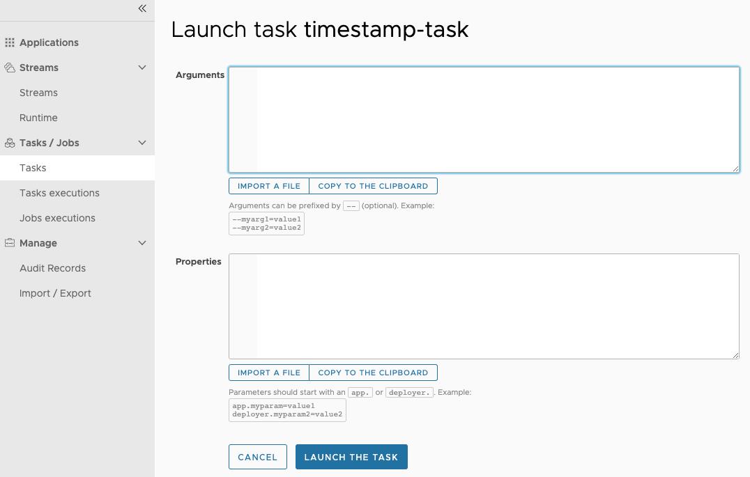 Task Launch