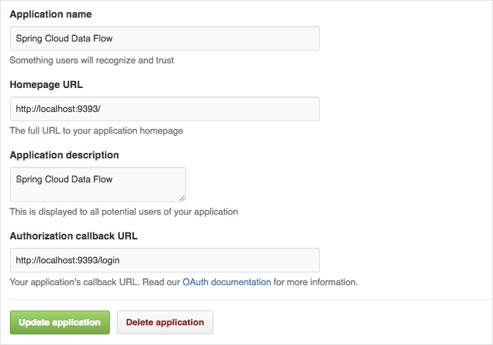 Register an OAuth Application for GitHub