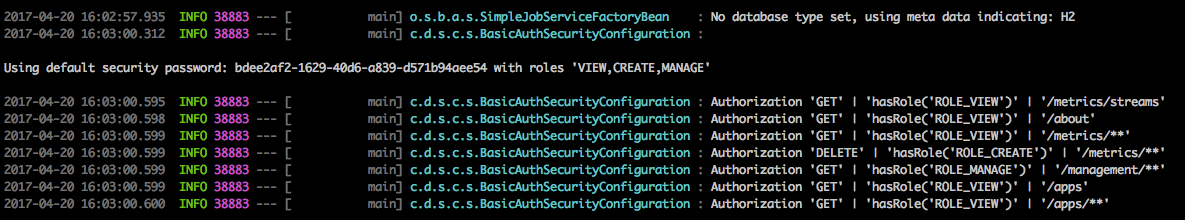 Default Spring Boot user credentials