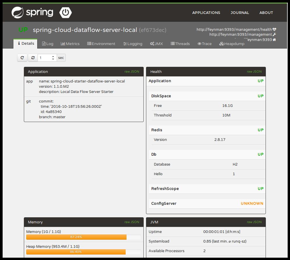 Spring Boot Admin UI