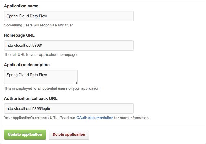 Register an OAuth Application for GitHub