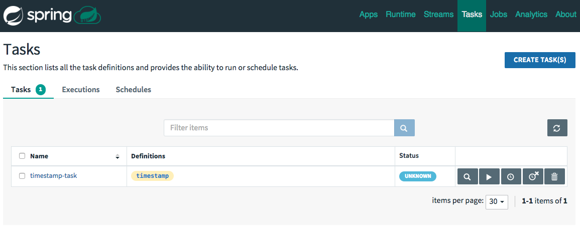Task Definitions with Schedule Controls