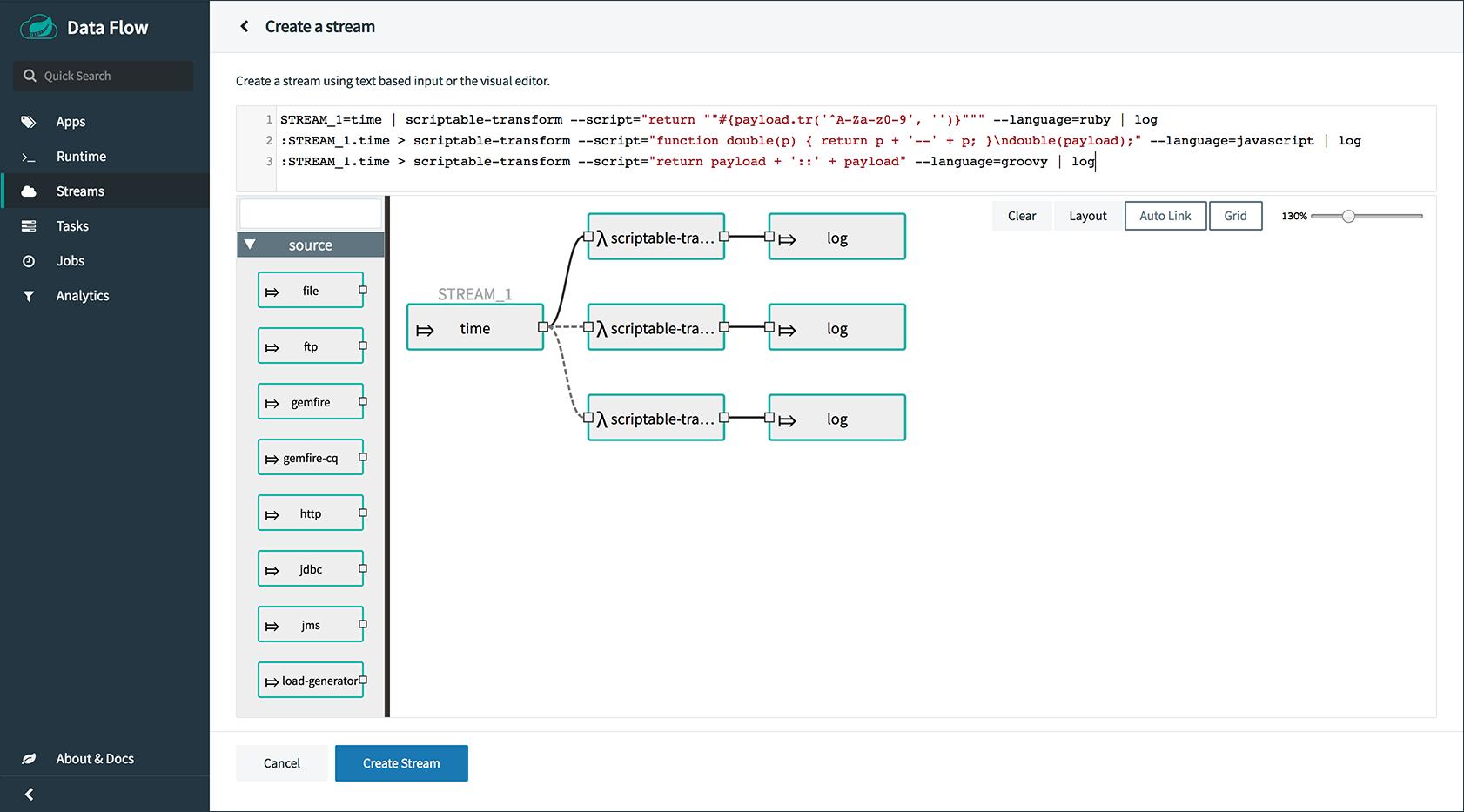 Spring Cloud Data Flow Server for Cloud Foundry