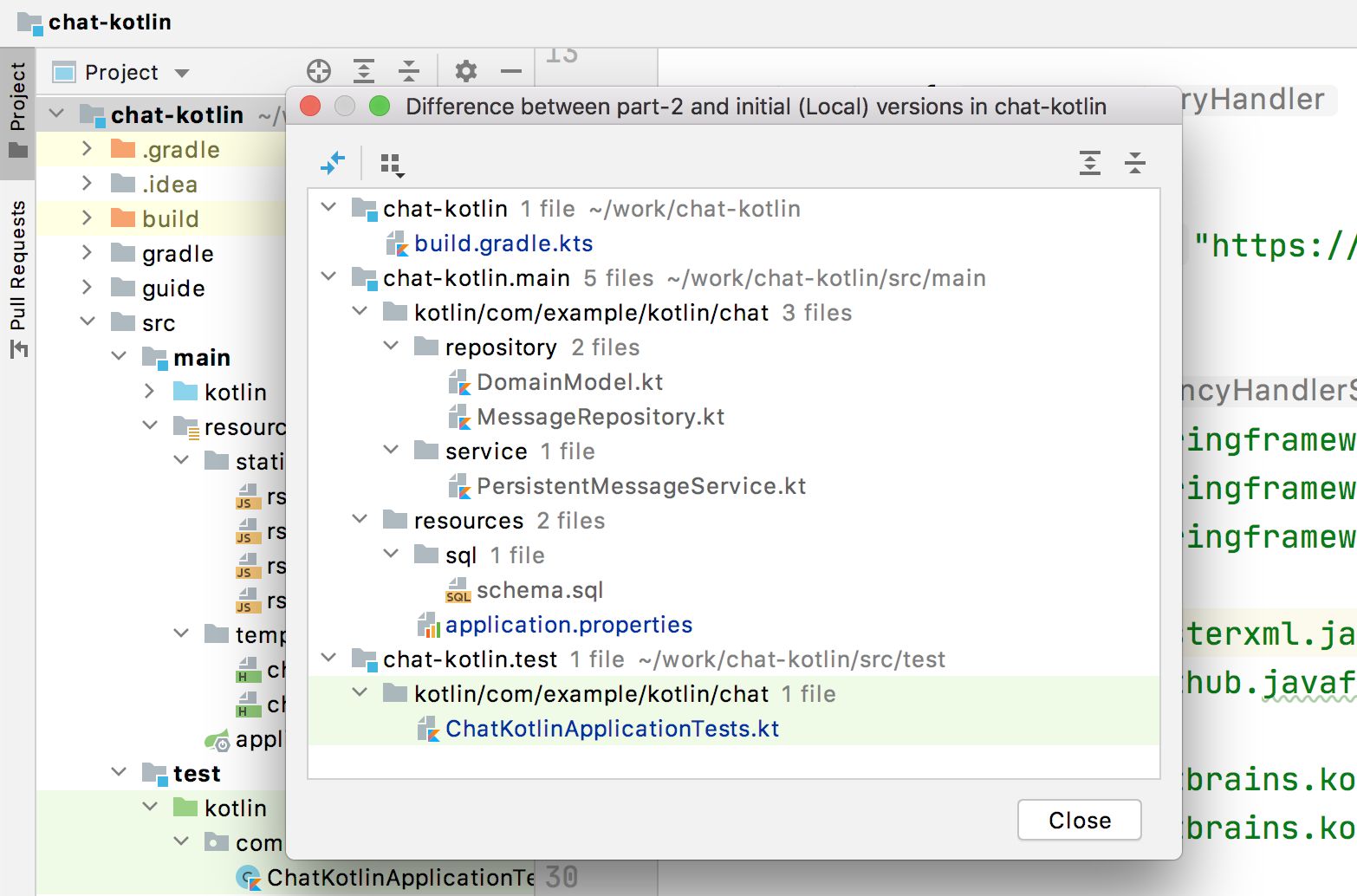 intellij git compare with branch diff