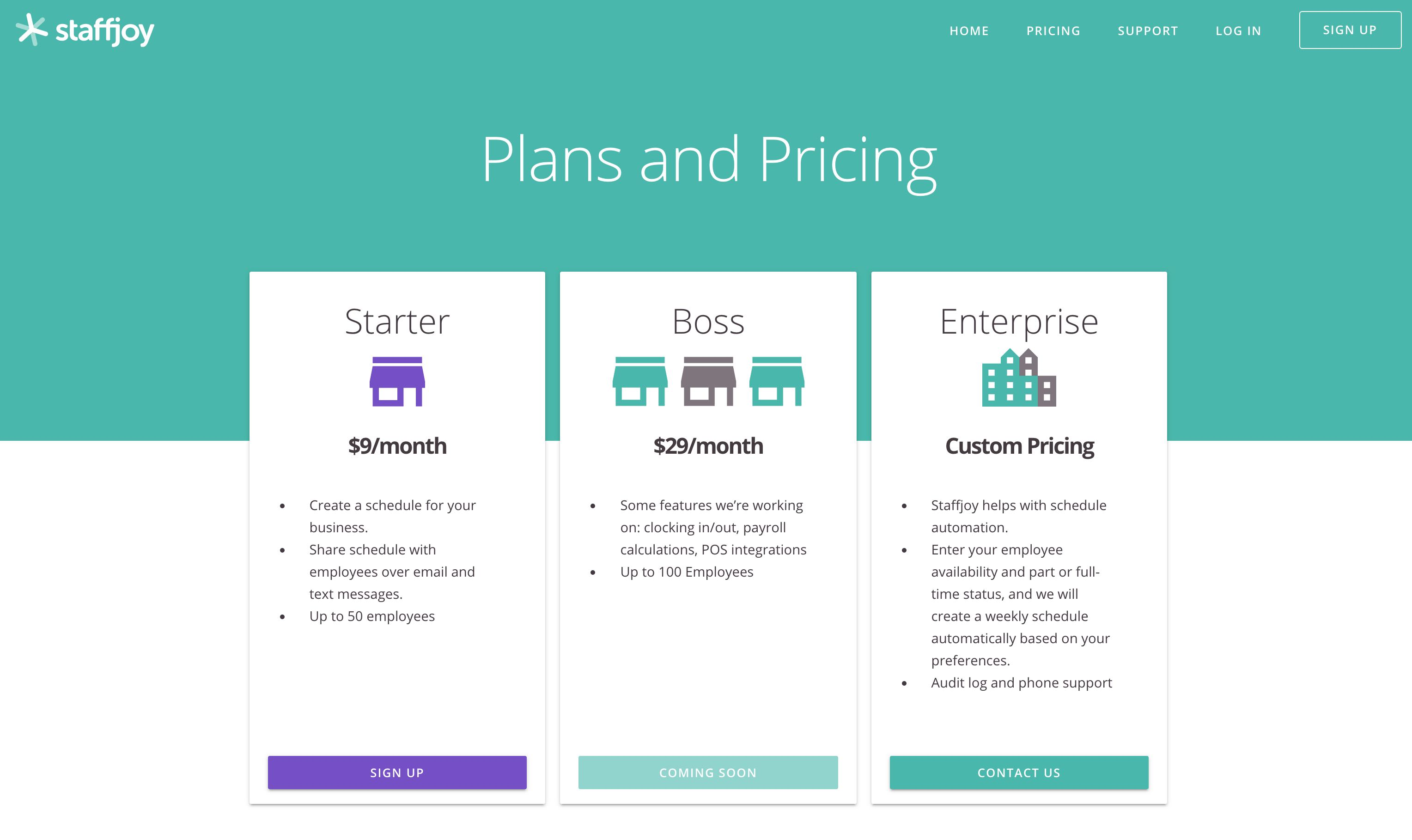 plan and price
