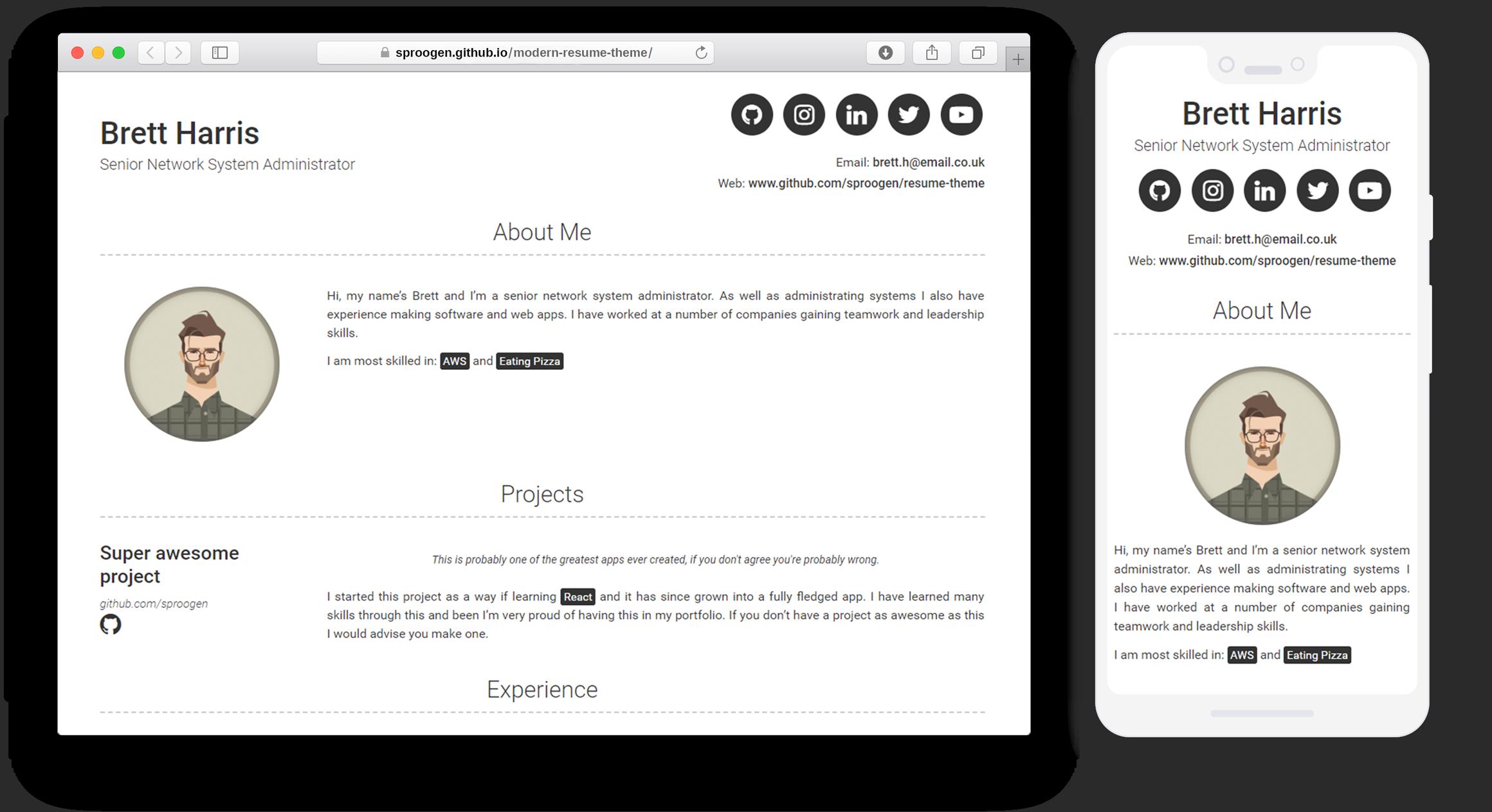 Jekyll Themes | Modern Resume