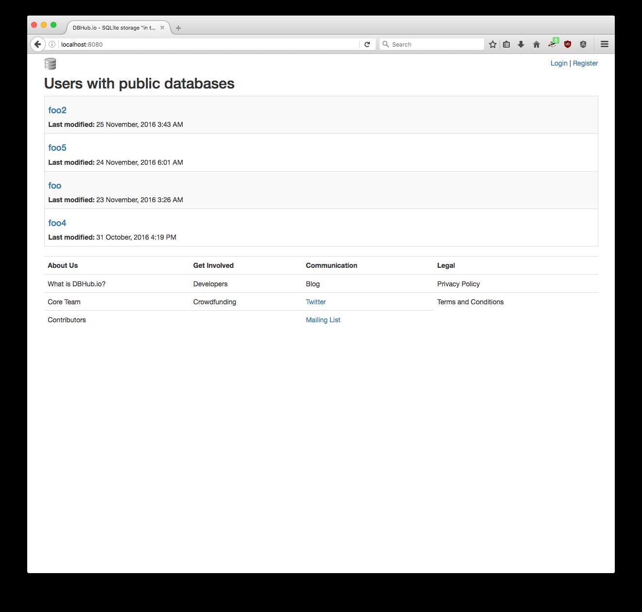 DBHub.io Root directory