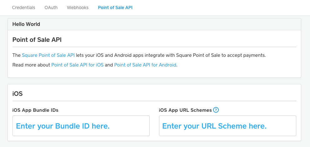 Point of Sale API