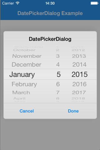 Github Squimer Datepickerdialog Ios Swift Date Picker Dialog For Ios