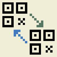 QR-to-QR logo