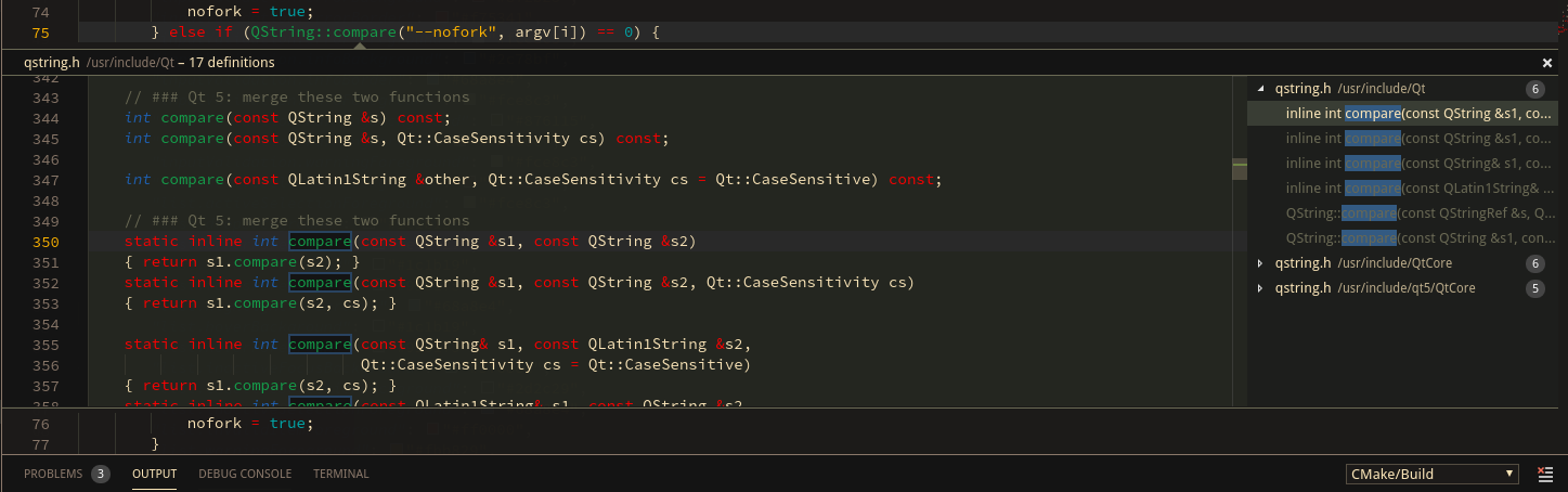 Screenshot of neovim-qt code with Peek