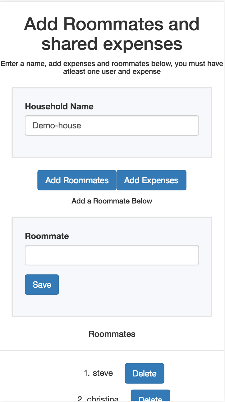 create roommate mobile rendering