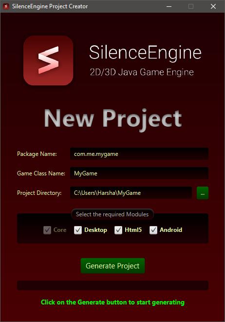 SilenceEngine Project Creator