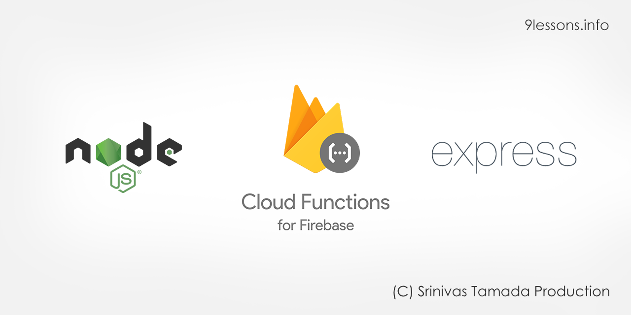 Node Express Firebase Functions