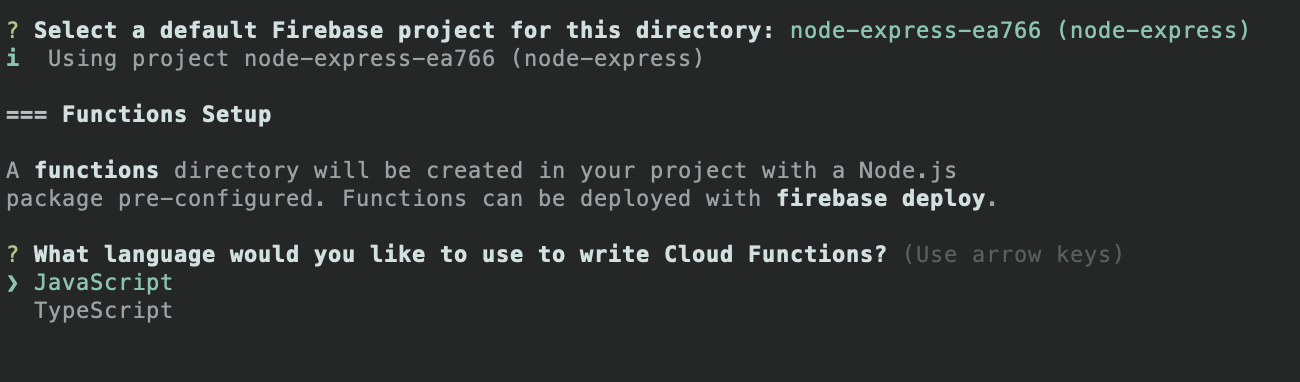 Firebase project type