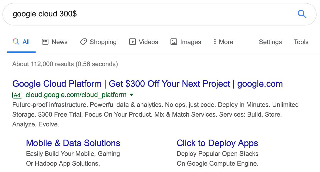 Google Cloud Free Tier