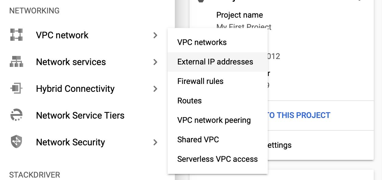 Google Cloud Static IP Address