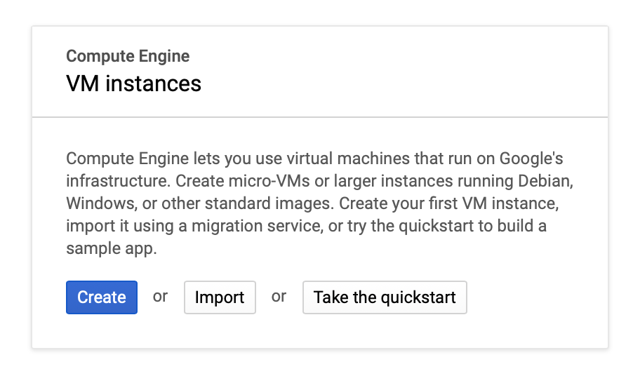 Google Cloud VM instance setup