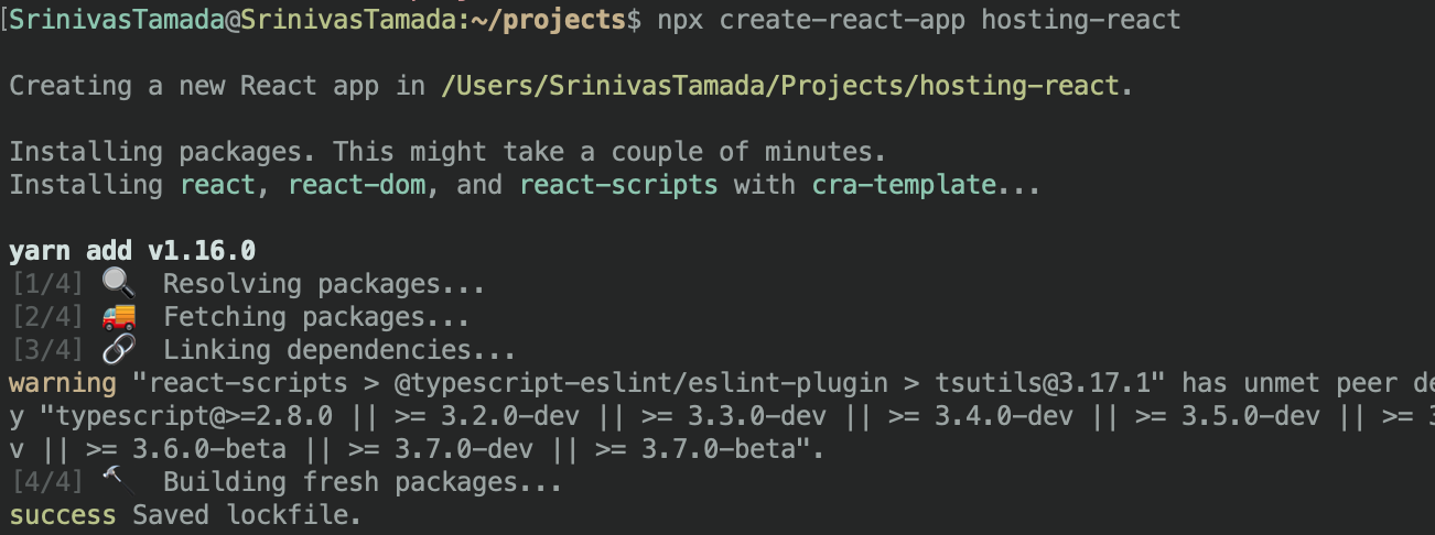 React create project