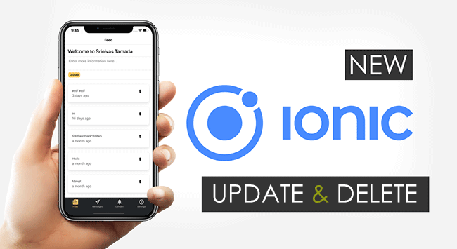 New Ionic 5 Angular 8 Update and Delete Records with RxJS