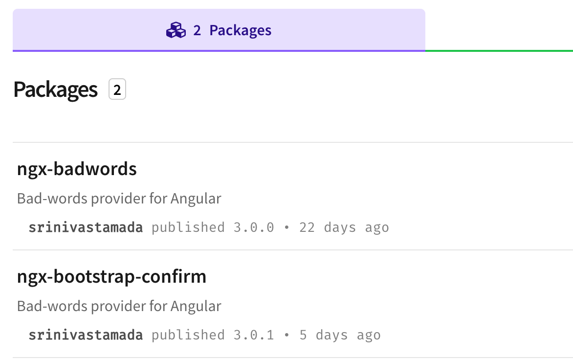 Create Angular NPM Package structure