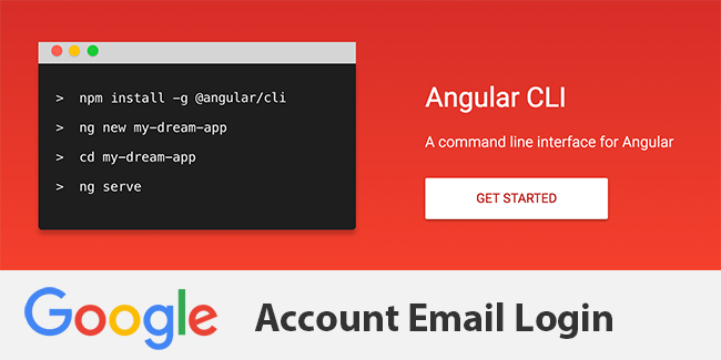 Angular 4 TypeScript Google Account Email Login