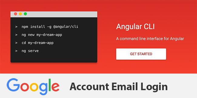 Angular 4 TypeScript Google Account Email Login