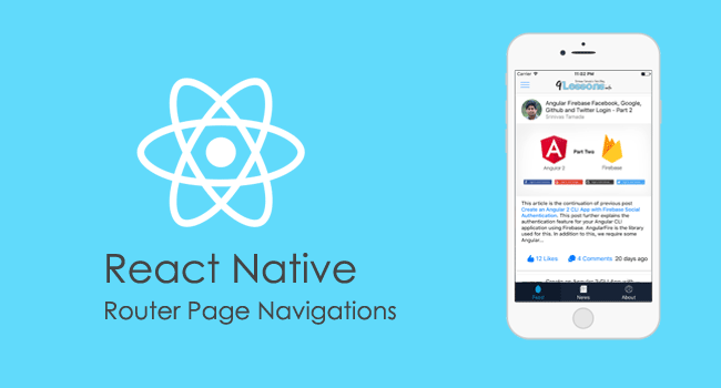 React Native Router Navigations