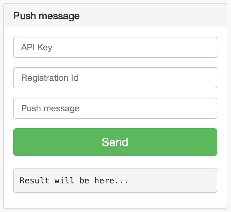 Test GCM push