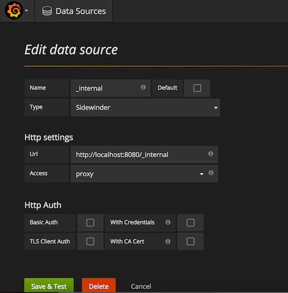 Data Source Create