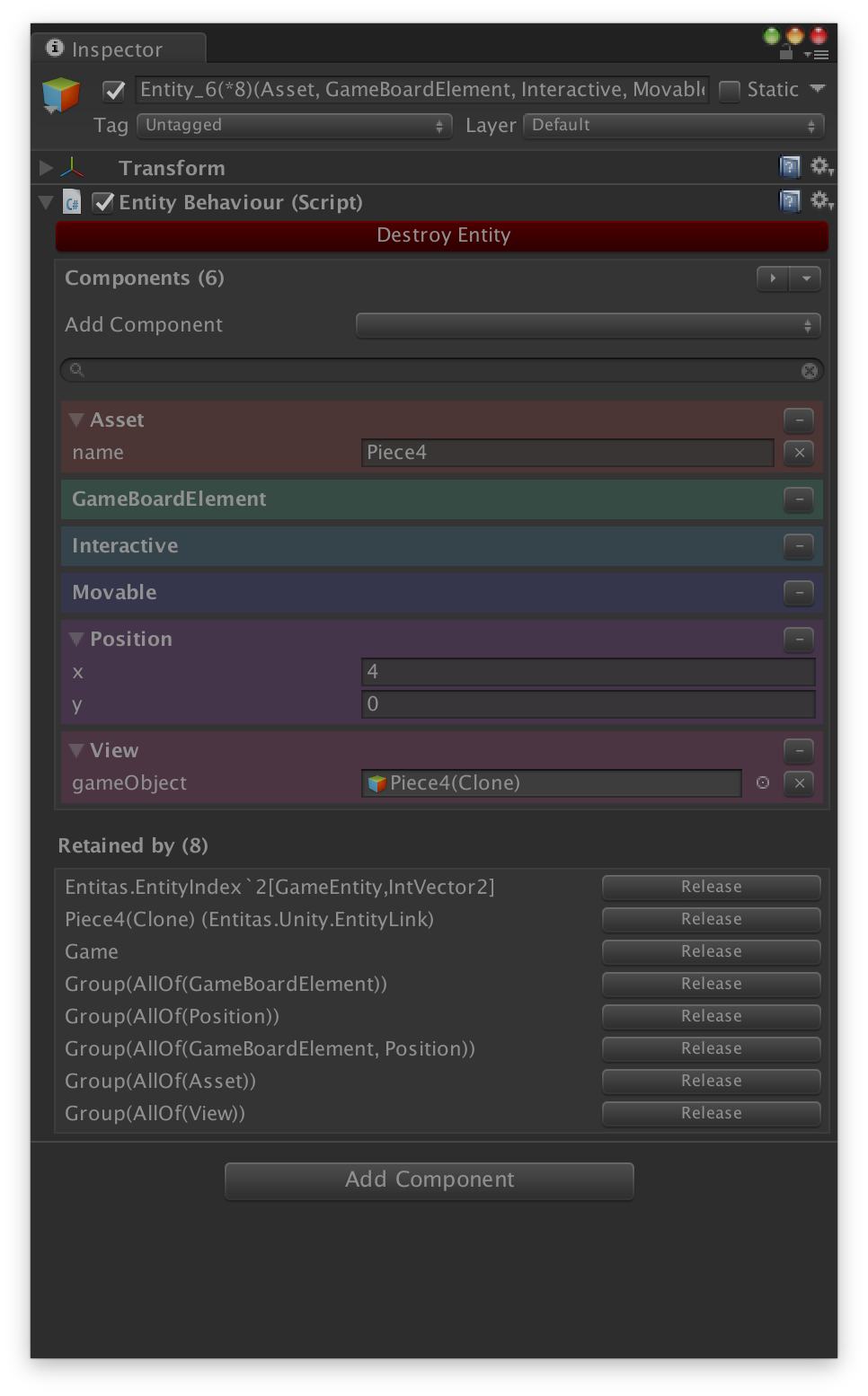 Entitas.Unity.VisualDebugging Entity