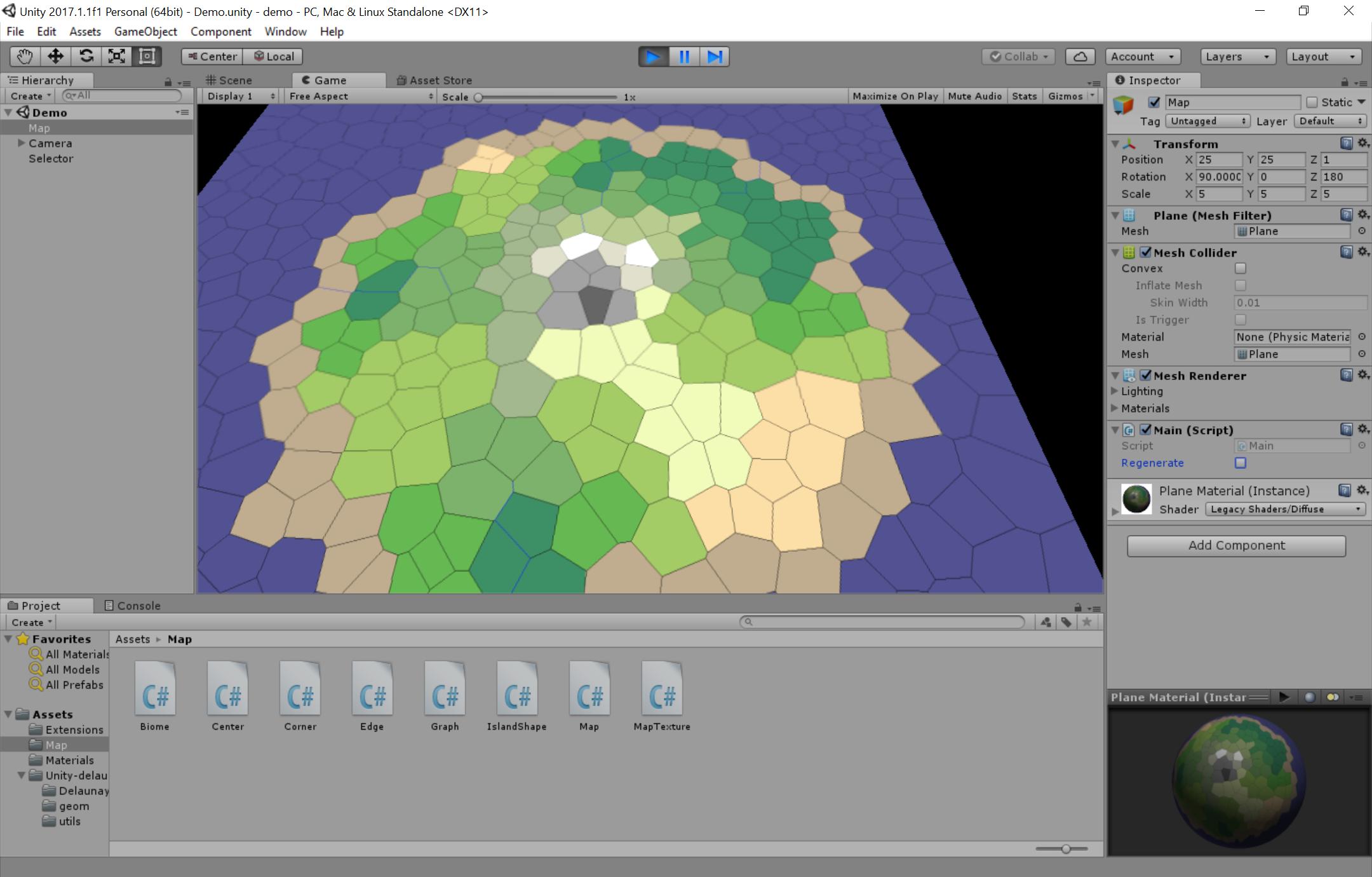 Polygon Map Generator