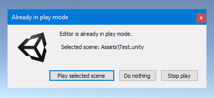 Already In Play Mode Screenshot