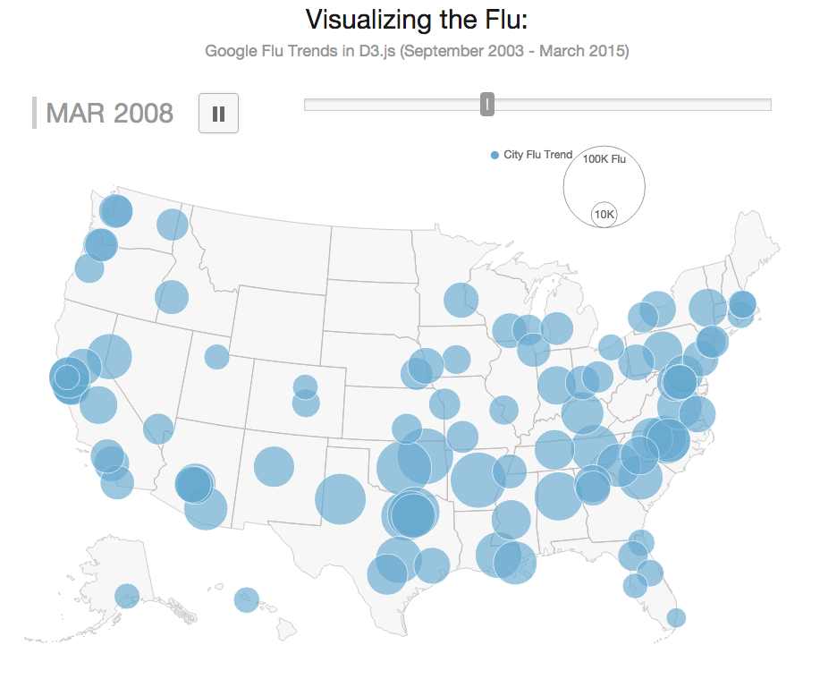 D Mapping With Google Flu Trends Data And Shapefile Conversion To - D3 us map
