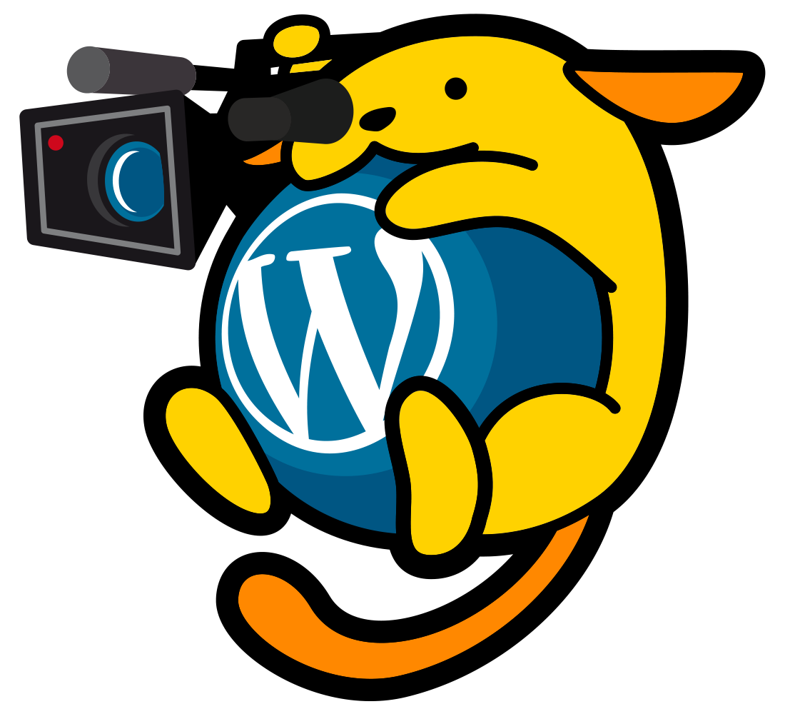 WordPress.TV camera Wapuu