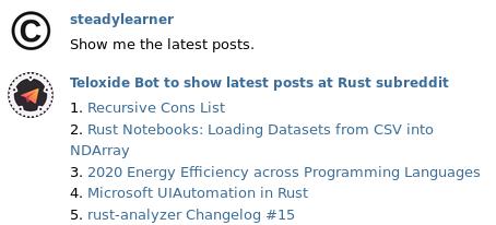 Rust Telegram bot