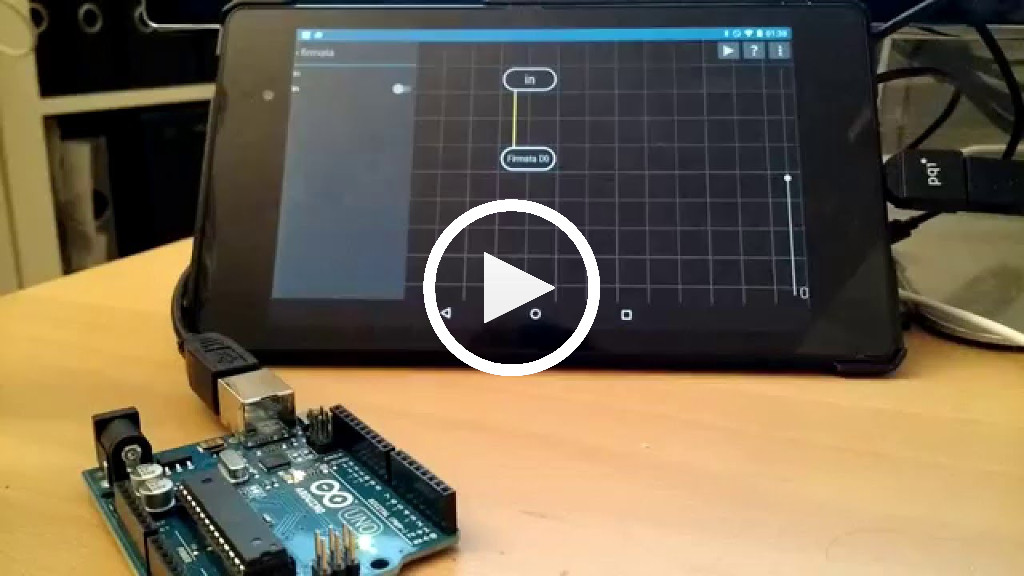 Arduino Firmata LED example