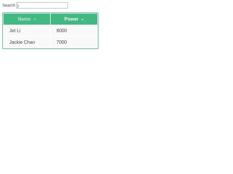 Grid Component Screenshot