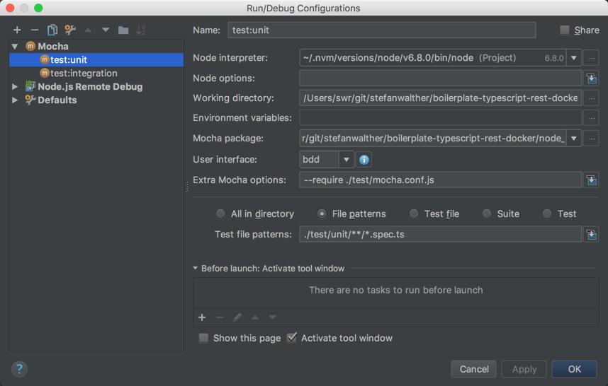 Configure Unit Tests in WebStorm