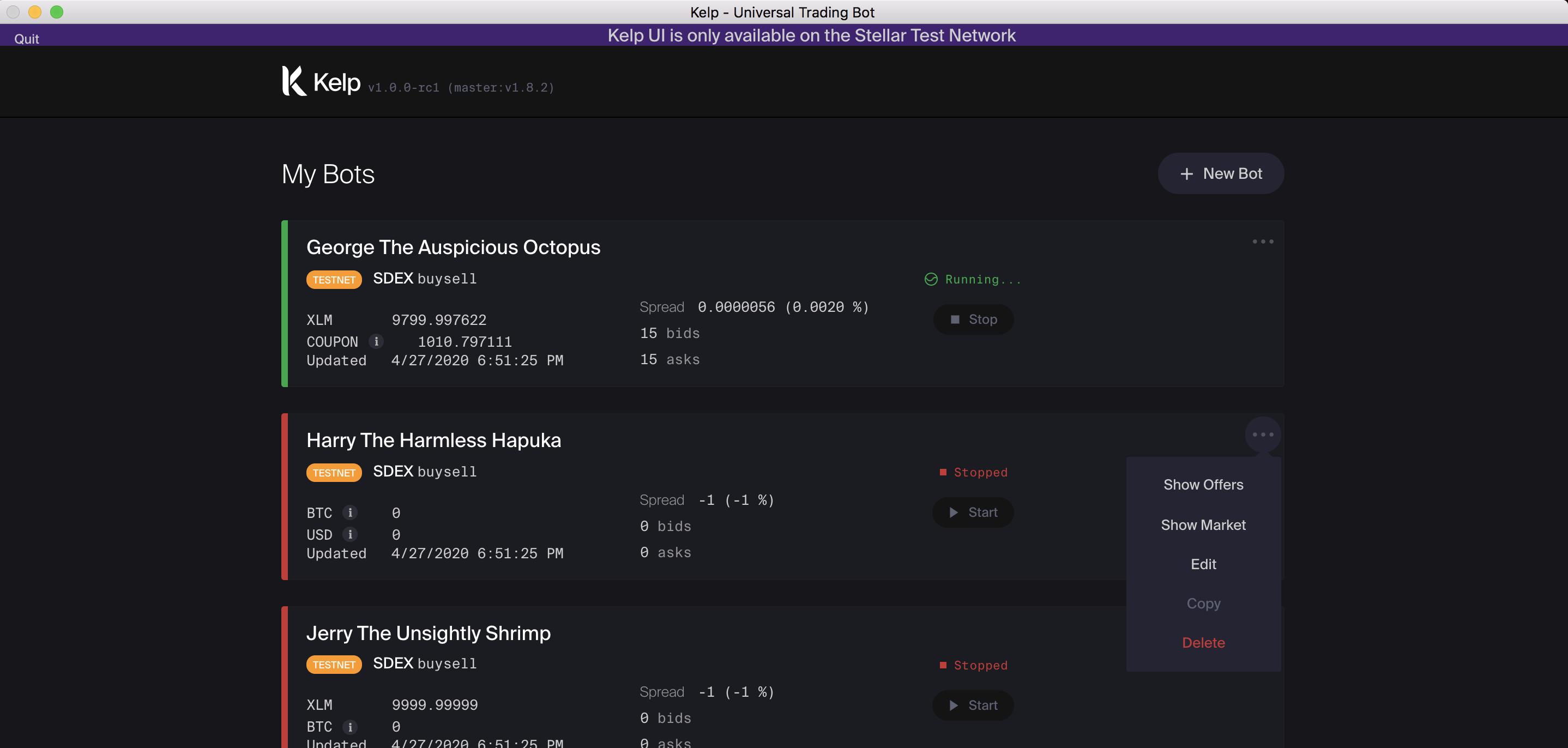 Kelp GUI screenshot