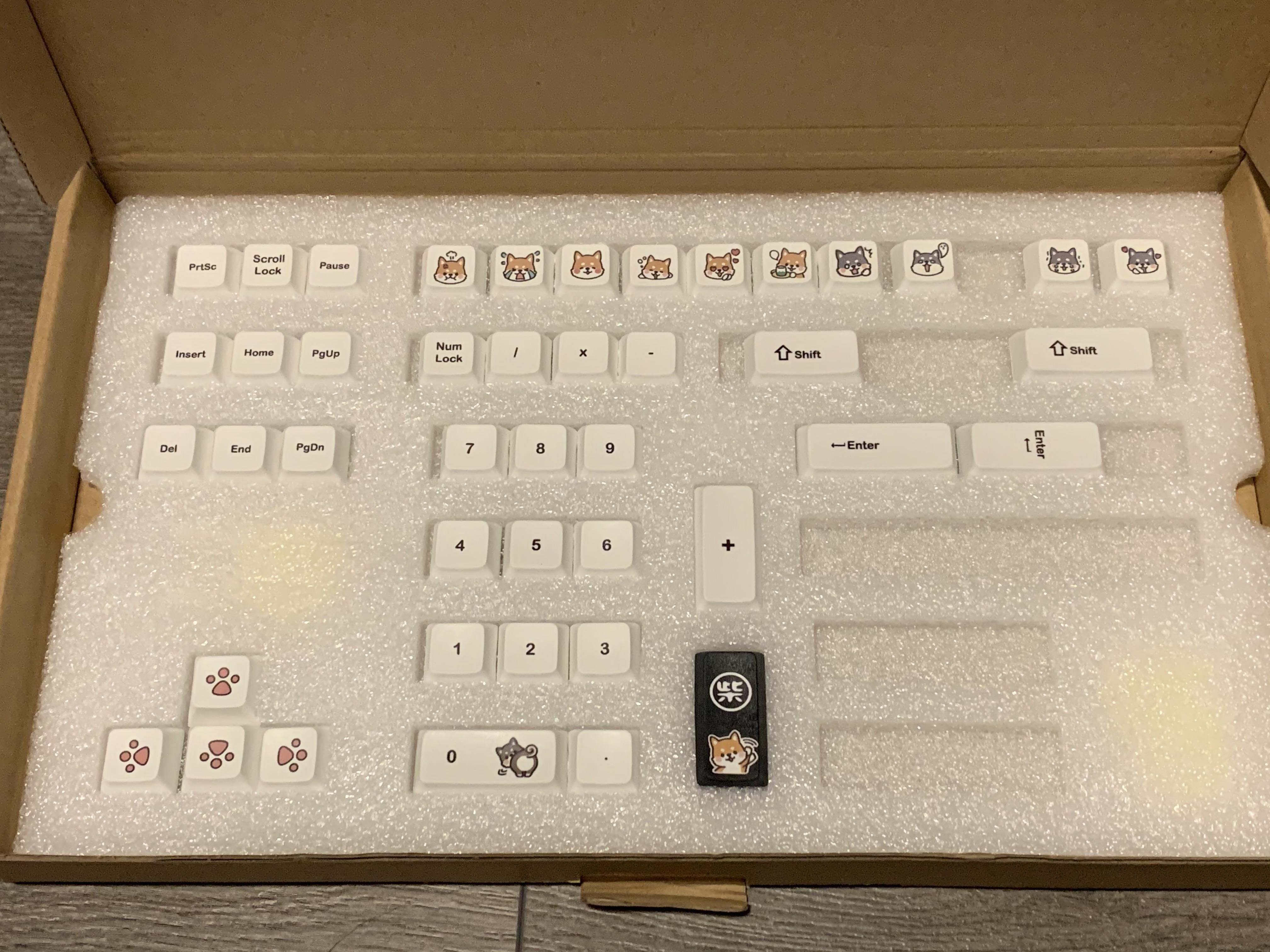 shiba inu keycaps 2