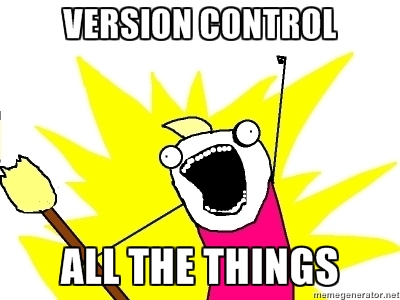 version control all the things