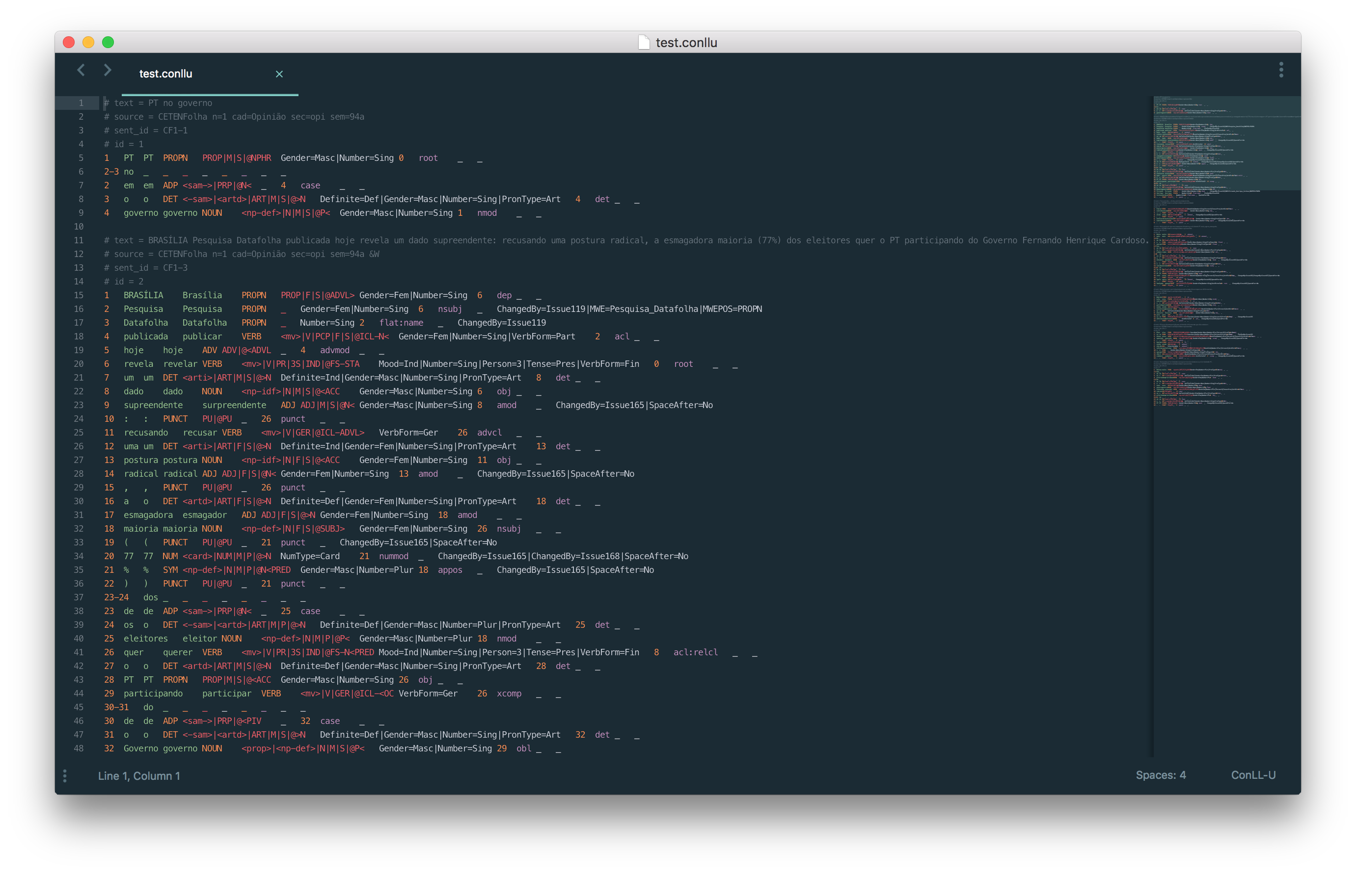 Highlighting demo on Sublime Text