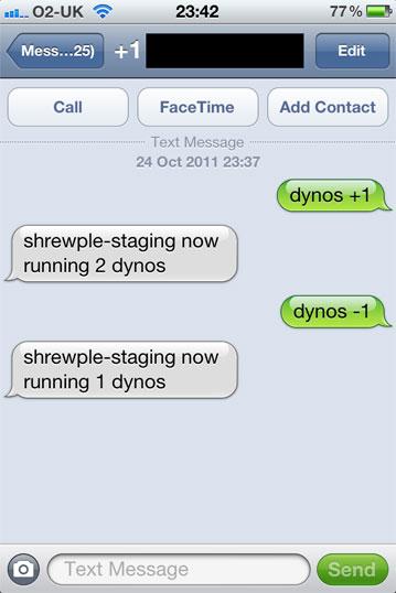 Scale via SMS