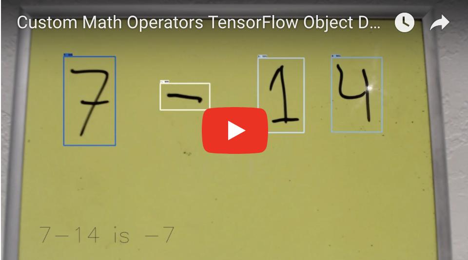 Custom Math Operators TensorFlow Object Detection - Test 1