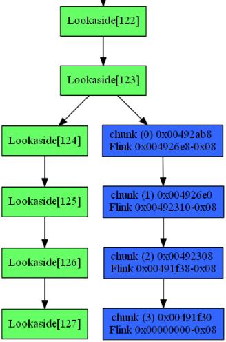 heaper viewing the lookaside[0x123]