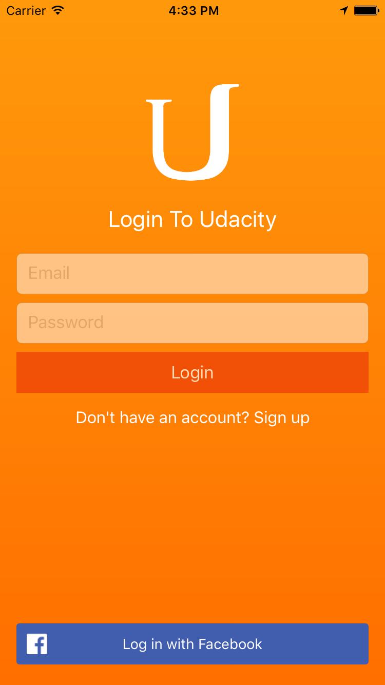 Login screenshot
