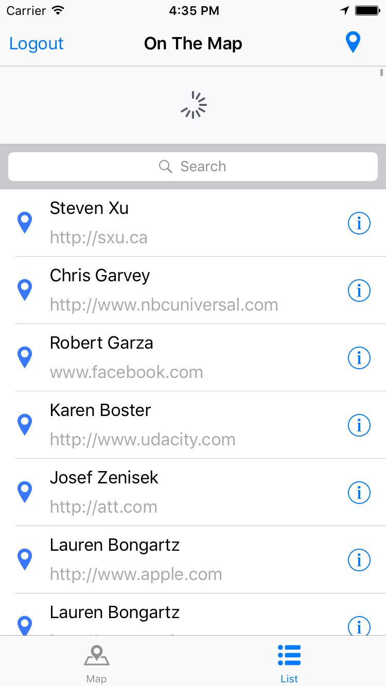 TableView screenshot