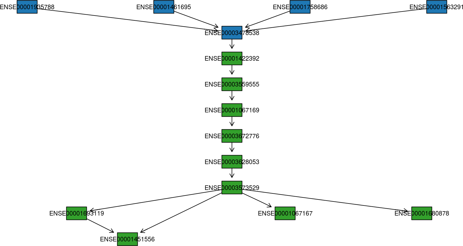 fusion transcript graph plot