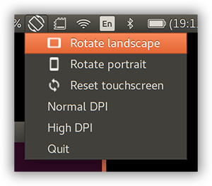 GPD Pocket Screen rotation utility